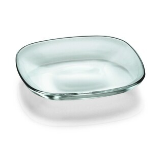 "Majestic Gifts European High Quality Glass Salad/ Dessert Square Plates- 7"" Diameter- S/6"