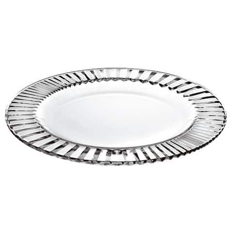 "Majestic Gifts European High Quality Glass Salad/ Dessert Plates- 8.5"" Diameter- S/6"
