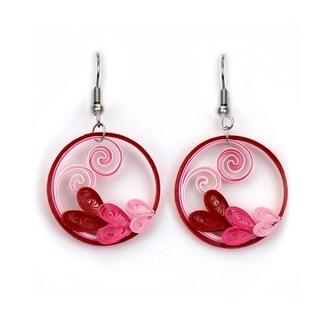 Handmade Heart Wreath Earrings (Vietnam)