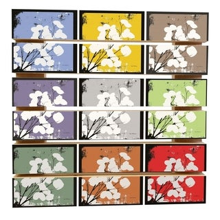 ArtWall Herb Dickinson 'Money Plant Collage' Wood Pallet Art