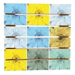 ArtWall Herb Dickinson 'Flower Collage' Wood Pallet Art