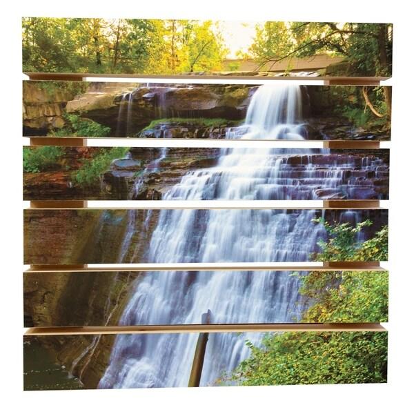 ArtWall Cody York 'Brecksville Falls' Wood Pallet Art