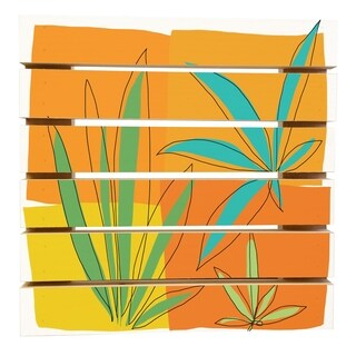 ArtWall Jan Weiss 'Grasses II' Wood Pallet Art