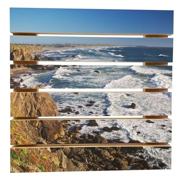 ArtWall Dan Wilson 'Sonoma Coast' Wood Pallet Art