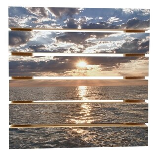 ArtWall Dan Wilson 'Lake Erie Sunset I' Wood Pallet Art