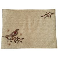 Bird On Twig Emboridery Placemat, 13 by 18-Inch