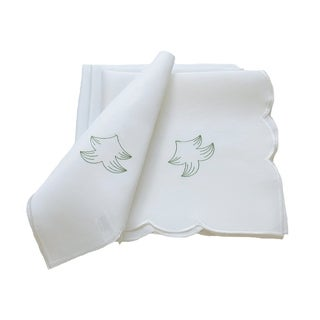 Tannenbaum Embroidered Cutwork Holiday Napkin, 21 by 21-Inch Set of 4