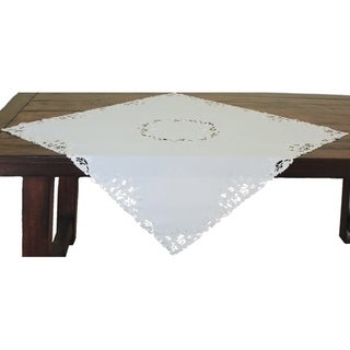 Arietta Embroidered Cutwork Table Topper, 34 by 34-Inch
