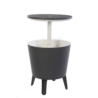 Keter Cool Bar Patio Beverage Cooler Bar Table