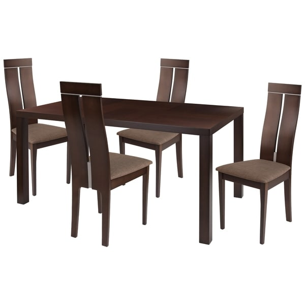Shop Clarke 48 Piece Wood Dining Table Set With Clean Line Wood Extraordinary How To Clean Dining Room Chairs