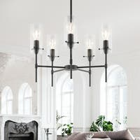 Light Society Montreal Clear Glass Five-Light Chandelier