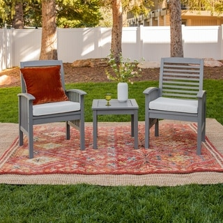 Havenside Home Surfside 3-piece Acacia Outdoor Chairs and Side Table Set