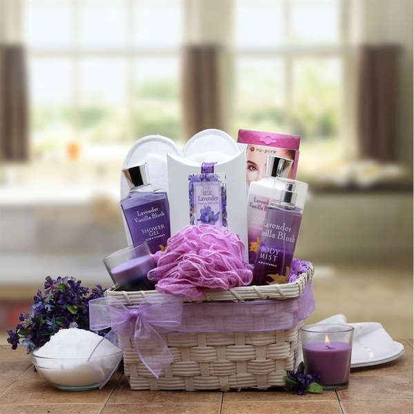 Lavender Ultimate Spa Gift Basket By Broadwaybasketeers Com: Shop Lavender Spa Gift Basket