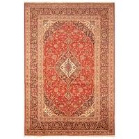 Handmade Herat Oriental Persian Hand-knotted Kashan Wool Rug - 8' x 12' (Iran)