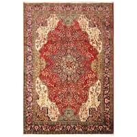 Handmade Herat Oriental Persian Hand-knotted Tabriz Wool Rug (Iran)