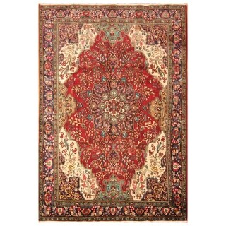 Handmade Herat Oriental Persian Hand-knotted Tabriz Wool Rug (8'2 x 11'7)