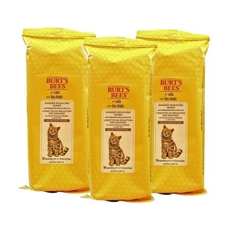 3-Pack Burt's Bees Dander Reducing Grooming Wipes for Cats
