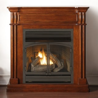 Duluth Forge Dual Fuel Ventless Fireplace - 32,000 BTU, Remote Control, Autumn Spice Finish