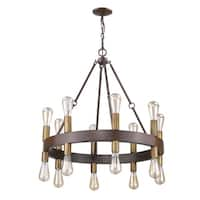 Acclaim Lighting Cumberland Oil-rubbed/Wood-finished Steel 16-light Chandelier