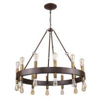 Acclaim Lighting Cumberland Oil-rubbed/Wood-finish Steel 24-light Chandelier