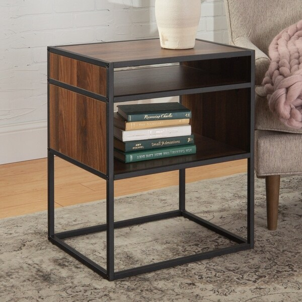 Carbon Loft Geller Side Table with Open Shelf - 20 x 16 x 24h
