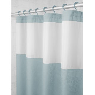 Maytex Smart Curtain Hendrix View Fabric Shower Curtain Attached Hooks (5 options available)