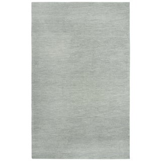 Rizzy Home Fifth Avenue Solid Grey Wool Area Rug - 8' x 10'