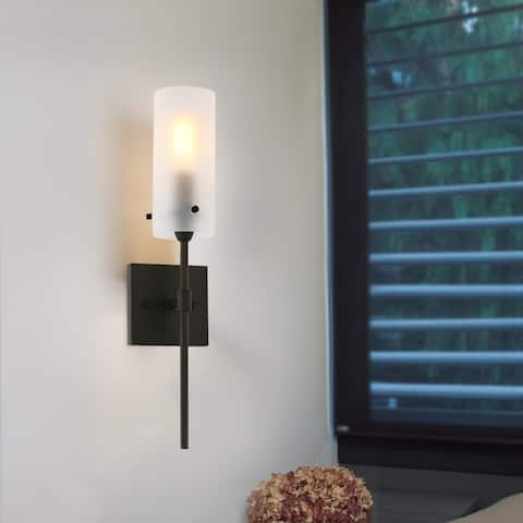 Light Society Montreal Frosted Glass Wall Sconce