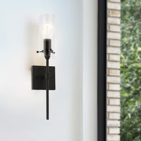 Light Society Montreal Clear Glass Wall Sconce
