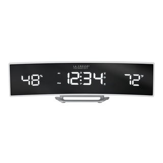 La Crosse Technology 602-247 Curved Alarm Clock with Mirrored Lens