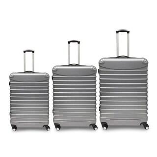 "Golden Hills Savanna 20/24/28"" 3PCS Hardside Expandable Luggage Set (Option: Silver)"