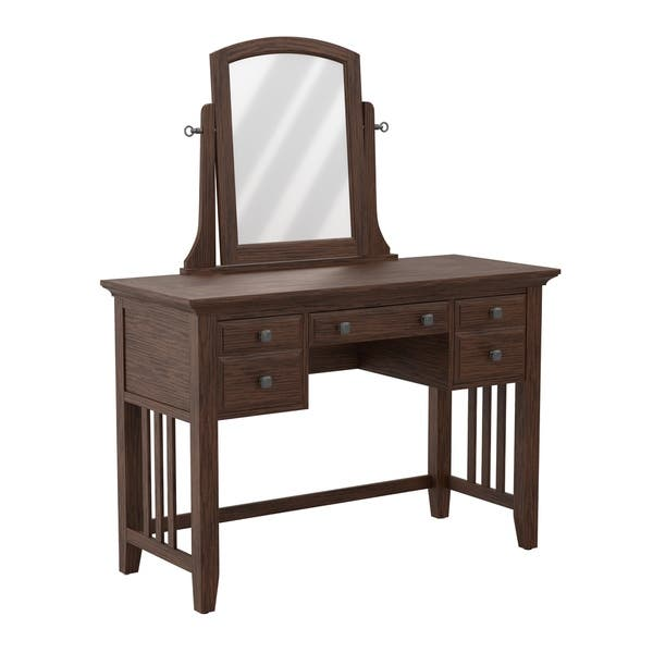 Osp Home Furnishings Modern Mission Bedroom Vanity And
