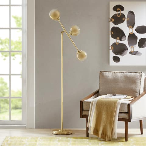 Carson Carrington Utena Gold Floor Lamp
