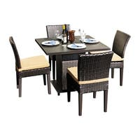 Provence OH0569 Outdoor Patio Wicker Dining Set with 4 Side Chairs