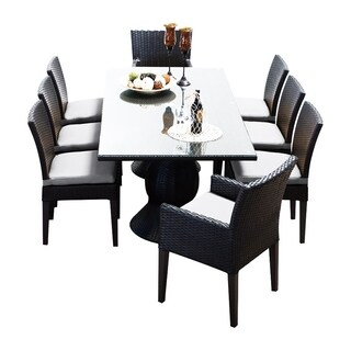 Provence OH0564 Outdoor Patio Wicker Dining Set with 6 Side Chairs and 2 Arm Chairs