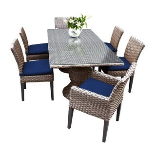 Sea Breeze OH0617 Outdoor Patio Wicker Dining Set with 4 Side Chairs and 2 Arm Chairs
