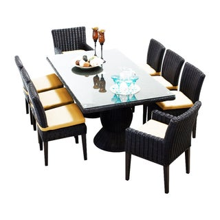 Calypso OH0729 Outdoor Patio Wicker Dining Set with 6 Side Chairs and 2 Arm Chairs