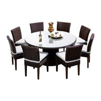 Calypso OH0720 Outdoor Patio Wicker Dining Set with 8 Chairs