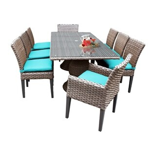Sea Breeze OH0620 Outdoor Patio Wicker Dining Set with 6 Side Chairs and 2 Arm Chairs