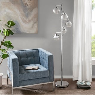 "Madison Park Barton Silver Floor Lamp - 18""l x 18""w x 72""h"