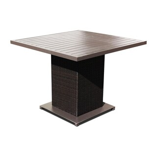 Provence OH0573 Outdoor Patio Square Wicker Dining Table