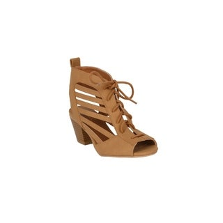 Xehar Womens Casual Stacked Chunky Ankle Block Heeled Bootie Sandals (More options available)