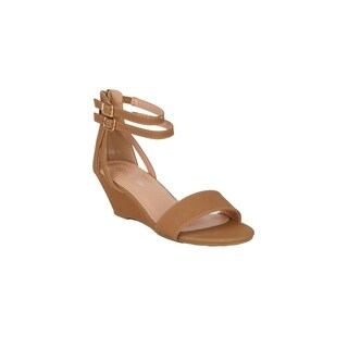 Xehar Womens Open Toe Low Heel Ankle Strap Wedge Summer Sandal