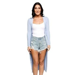 Xehar Womens Casual V-Neck Long Button Down Cardigan Sweater