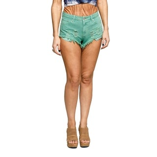 Xehar Womens Casual Floral Print Denim Shorts