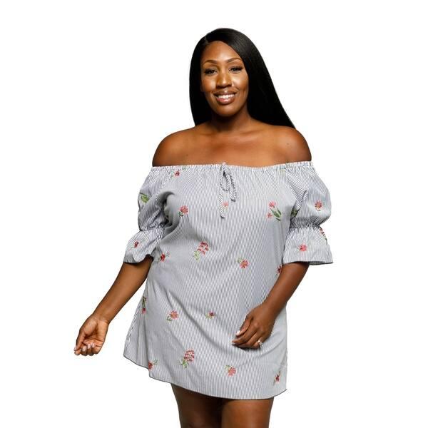 Shop Xehar Womens Plus Size Casual Off Shoulder Floral Short ...