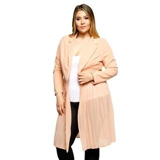 Xehar Womens Plus Size Lightweight Collar Open Front Blazer Jacket