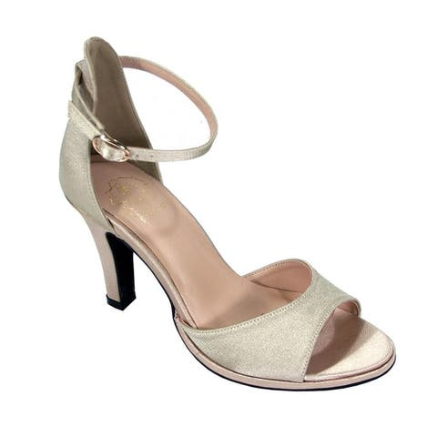 FLORAL Maxine Women Wide Width DOrsay Ankle Strap Heeled Dress Sandal