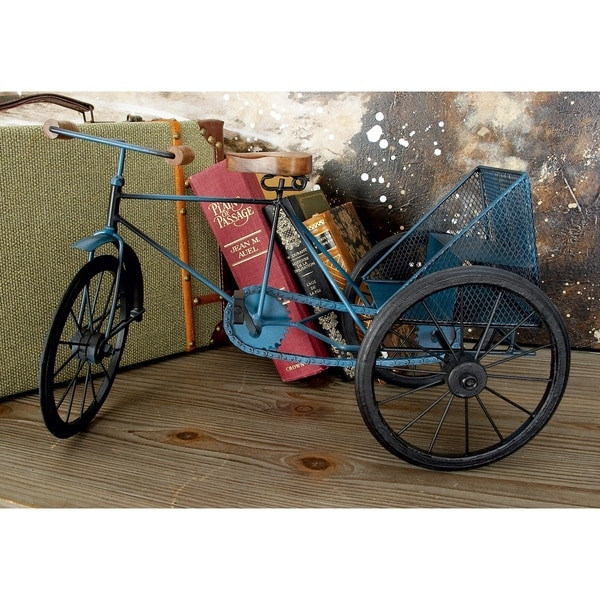 Carbon Loft Lillian Blue Metal and Wood Tricycle