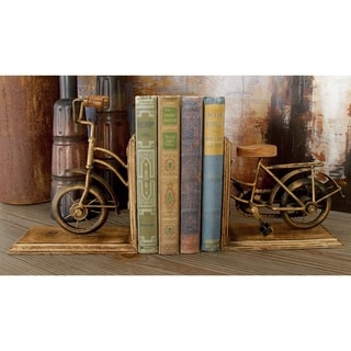 Copper Grove McNallie Metal And Wood Bicycle Bookend